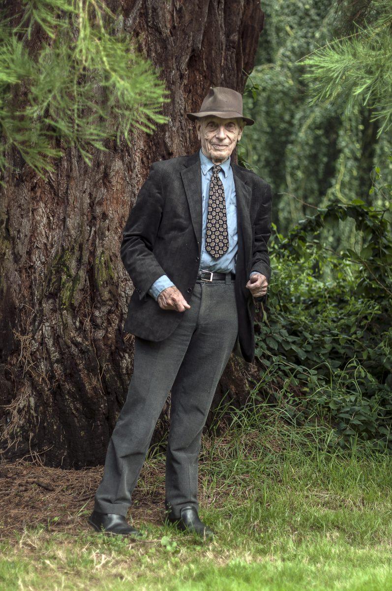 Man under Sequoia